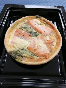 Tartelette saumon épinards